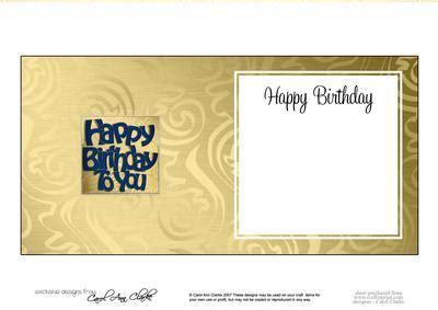 birthday card inserts templates happy birthday card insert cup610279 359 craftsuprint