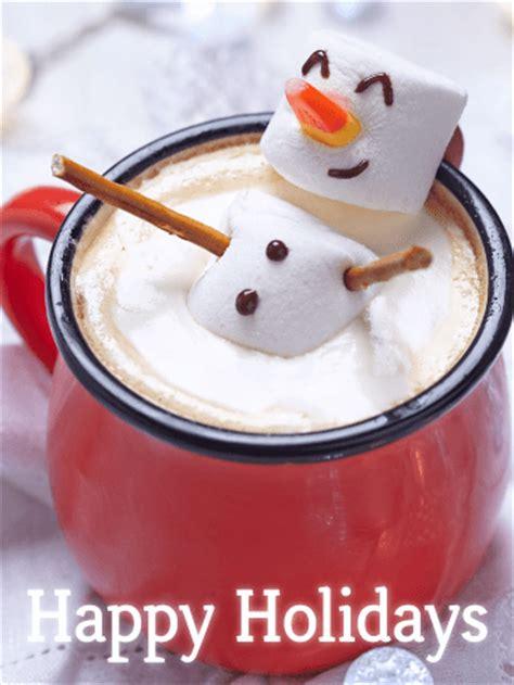 happy marshmallow snowman happy holidays card birthday greeting cards  davia