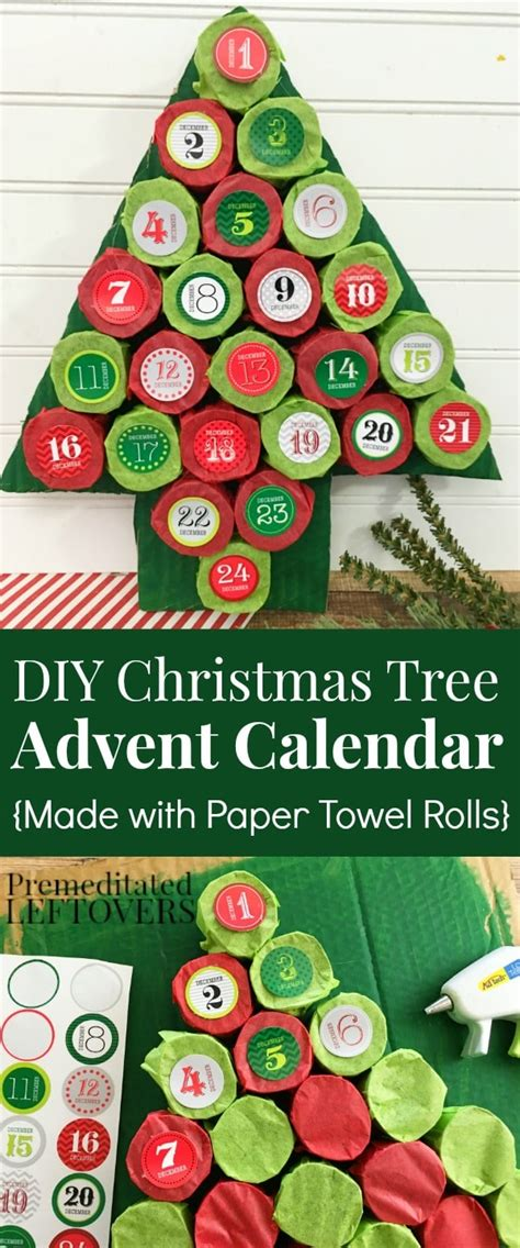 How To Make A Paper Advent Calendar - diy tree advent calendar tutorial using paper