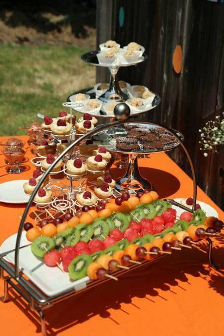 bridal shower finger food desserts host a backyard bridal shower
