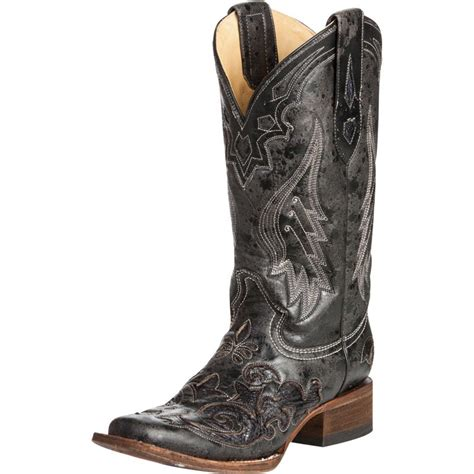shop s corral vintage black python inlay boots