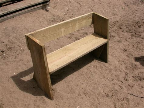 how to make a simple bench easy beach or garden bench out of scrap wood scrap