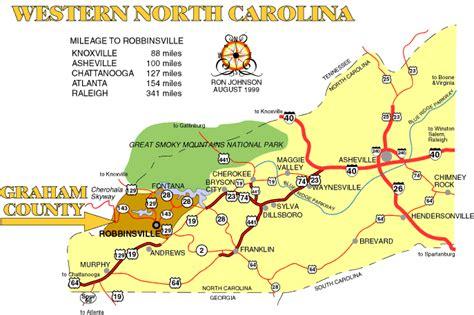 map of western carolina minis on the maps