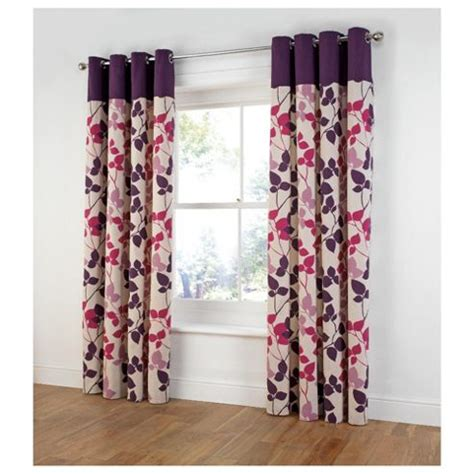 bold print curtains buy tesco bold leaf print unlined eyelet curtains