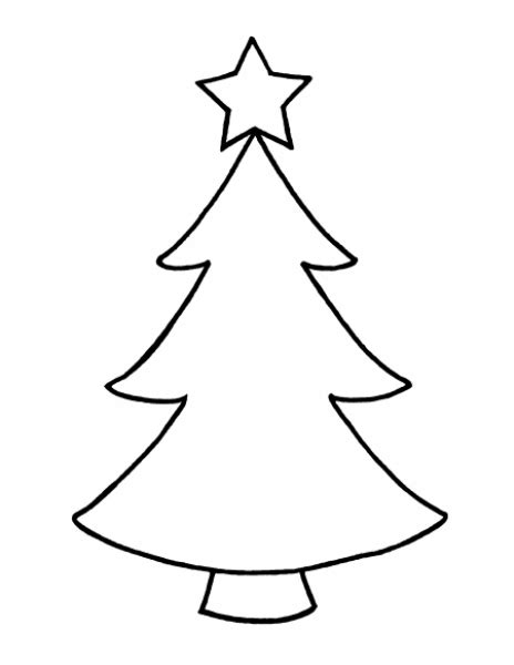 christmas tree drawing outline christmas picture outlines