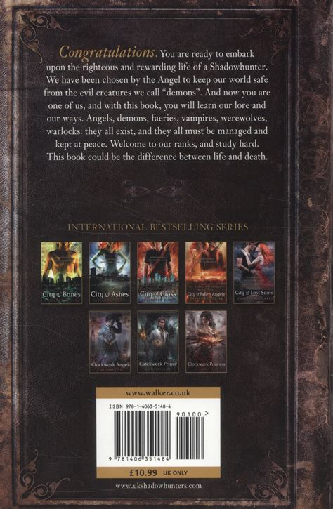 The Shadowhunters Codex Softcover the shadowhunter s codex being a record of the ways and