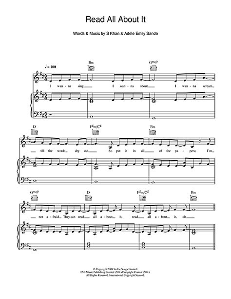 tutorial piano emeli sande read all about it read all about it feat emeli sand 233 sheet music by