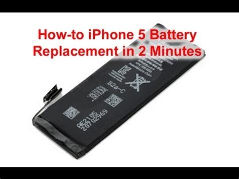 Iphone Battery Replacement Iphone 5 Battery Replacement Done In 2 Minutes