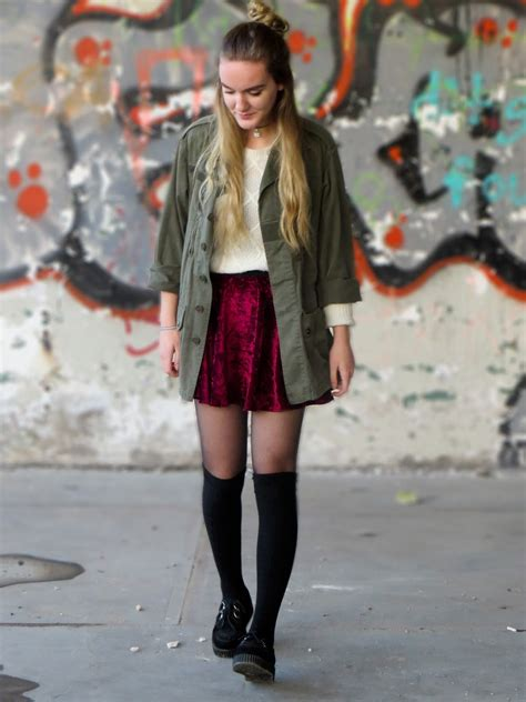 skater skirt with knee high socks memes