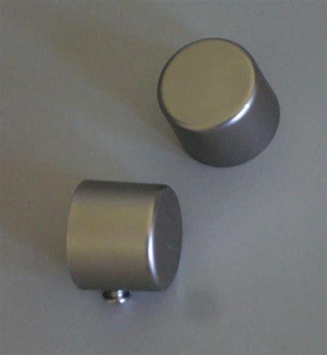 curtain rod end caps curtain rod finial end cap x 2 satin silver for 19mm rod