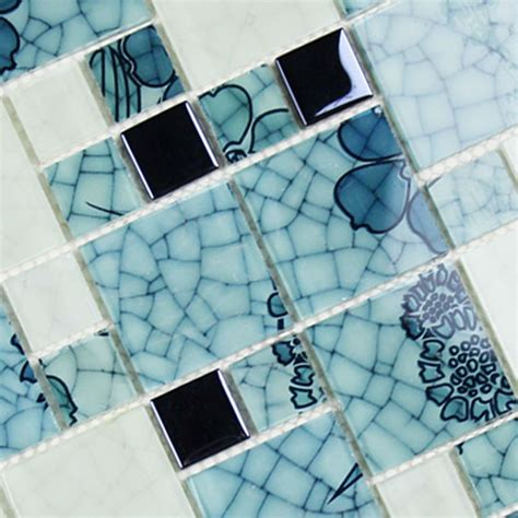 french blue and white ceramic tile backsplash crystal glass tile backsplash pattern blue and white