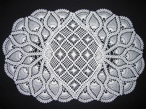 crochet doily patterns oval crochet pineapple doily crochet pinterest
