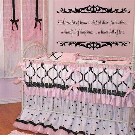 Wall Decal Quotes For Nursery Items Similar To Baby Nursery Wall Quote A Wee Bit Of Heaven Vinyl Wall Decal With Shabby Chic