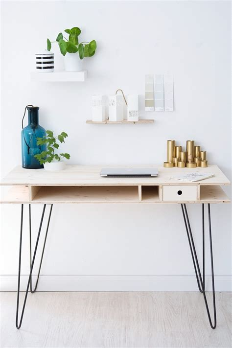 diy desk with hairpin legs 25 stylish diy desks