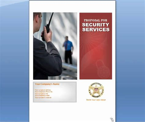 security services proposal for security business use
