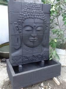 galet decoration jardin galet decoration jardin 5 mur deau avec bassin visage de bouddha noir h 1 m 50 zgbelt