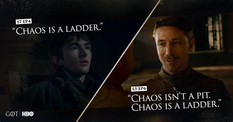 In Chaos The Eloquence In by Of Thrones Why Bran S Quot Chaos Is A Ladder Quot Callback