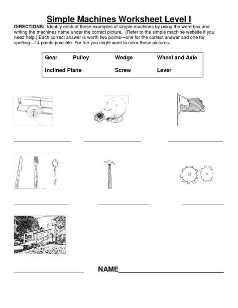 Work And Machines Worksheet 11 best images of 4th grade science worksheet