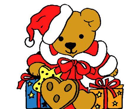 osito de peluche con regalo dibujos de navidad dibujo de osito con gorro navide 241 o pintado por manuel13 en