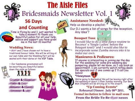 bridesmaid newsletter template bridesmaids newletter vol 1 weddingbee photo gallery