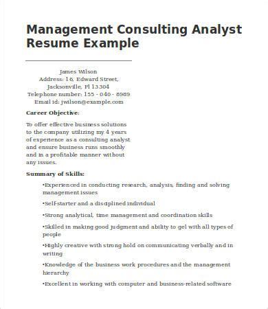 7 management consulting resume templates pdf doc
