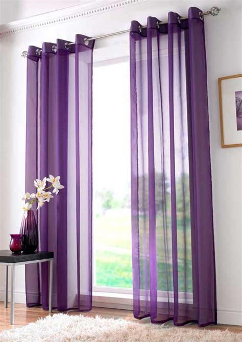 gardinen lila voile curtain panels