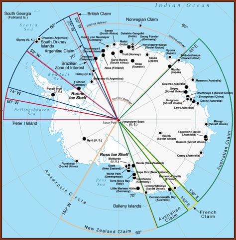 antarctica political map mcmurdo station antarctica