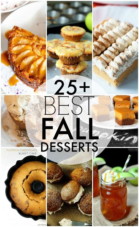 over 25 of the best fall desserts perfect to kick up the