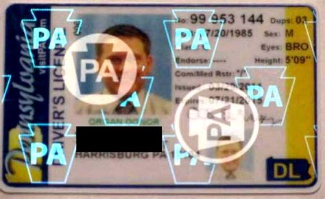 Verification Letter Photocard new hologram on pa drivers license idscanner