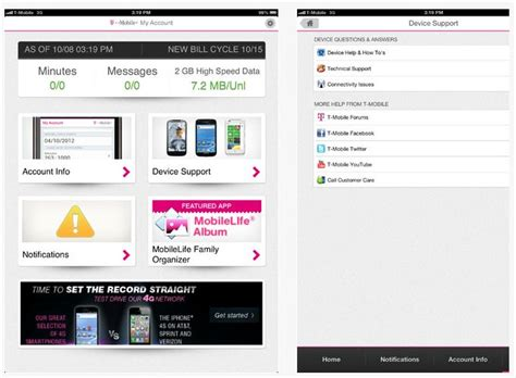 my mobile appz t mobile my account app now available for ios