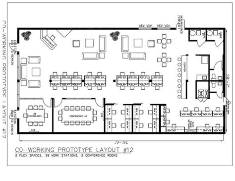 job layout plan coworking floorplan coworking spaces floorplans pinterest