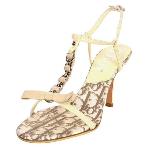 Sandal Selop Vogue Creme christian t bow sandals sz 36 5 for sale at 1stdibs