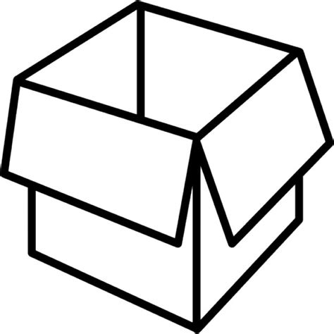 Outlined Box by Packaging Box Opened Outline Icons Free