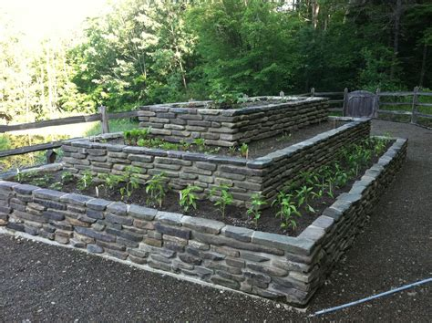 gartenanlage mit steinen raised garden beds buffalo ny landscape