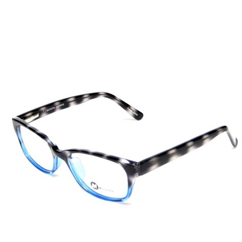 modern eyeglasses grey blue