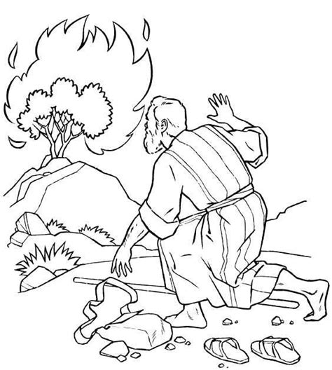 1000 Ideas About Burning Bush Craft On Pinterest Moses Coloring Page Bush