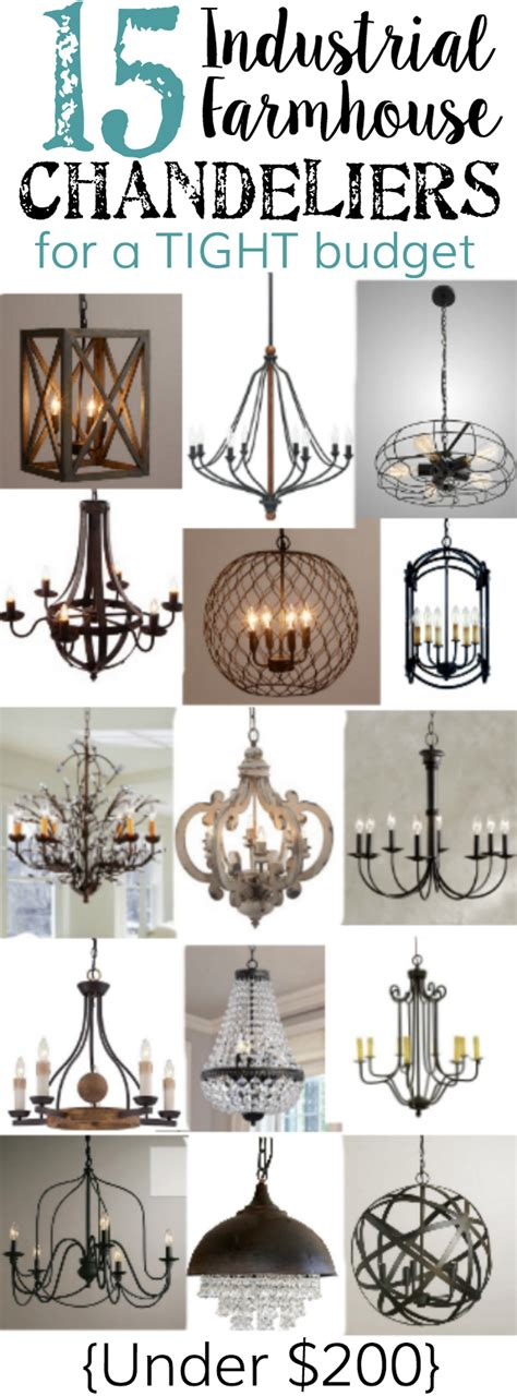 industrial farmhouse chandeliers   tight budget
