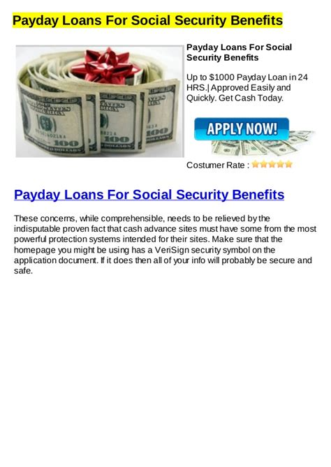 Payday Loans With Social Security Income payday loans for social security benefits