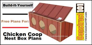 Greenhouse Bench Plans Chicken Coop Nest Box Plans Construct101