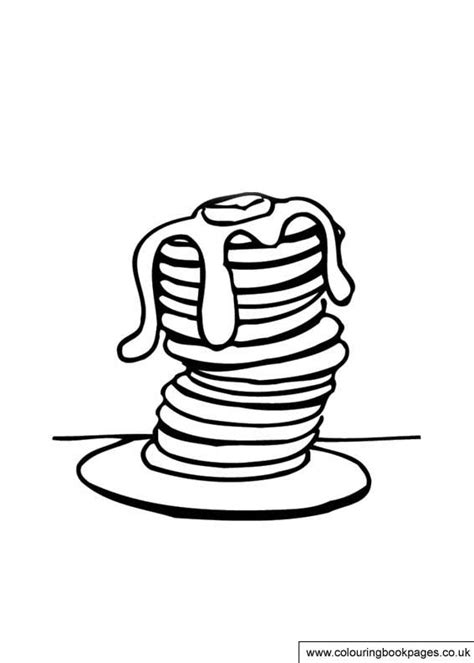 Free Pancake Day Colouring Pages Pancake Colouring Pages