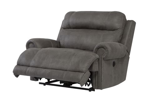 wide power recliner austere zero wall power wide recliner in gray 3840182