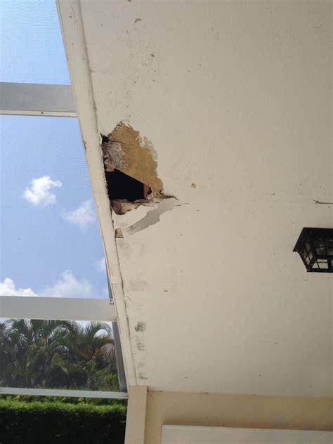 Ceiling Leak Repair Contractors - ceiling damage from roof leak brevard county fl