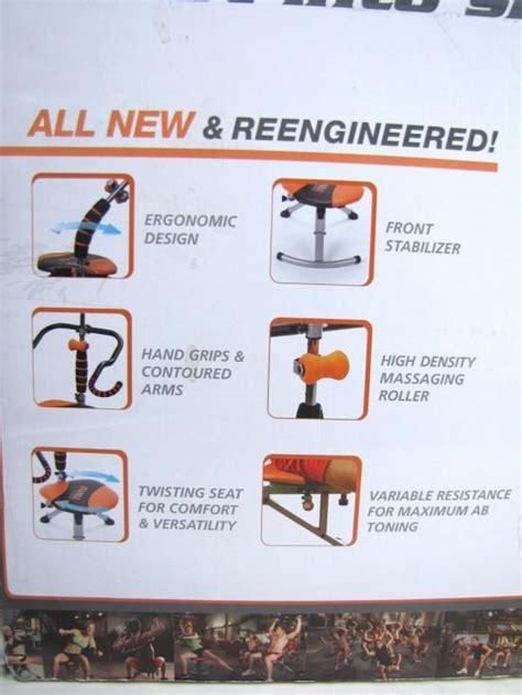 new ab doer twist abdominal workout chair w starter kit