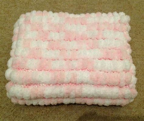 knitting pattern for pom pom baby blanket knitted pink and white marshmallow pom pom baby