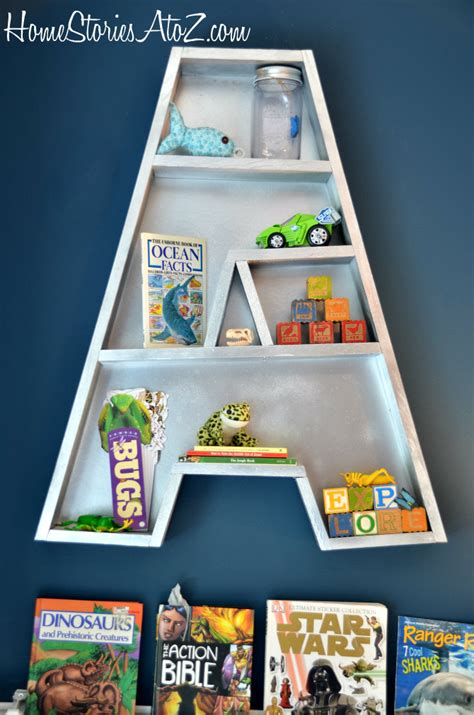 letter shaped bookshelf images