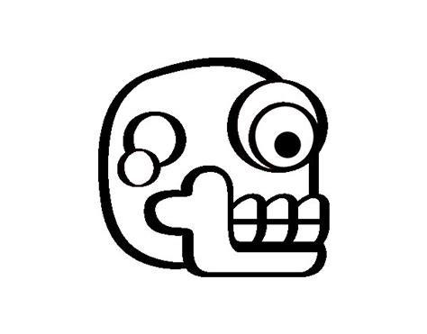 imagenes aztecas para descargar dibujo de una calavera azteca para colorear dibujos net