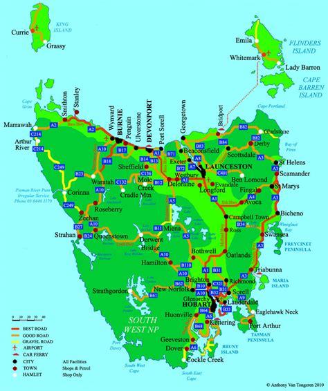 printable road map of tasmania map of tasmania new roundtripticket me