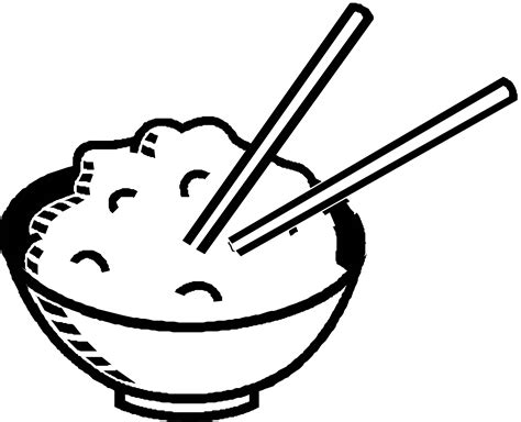 rice clipart black and white clipart panda free