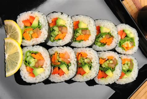 vegetables used in sushi veggie sushi rolls recipe dishmaps