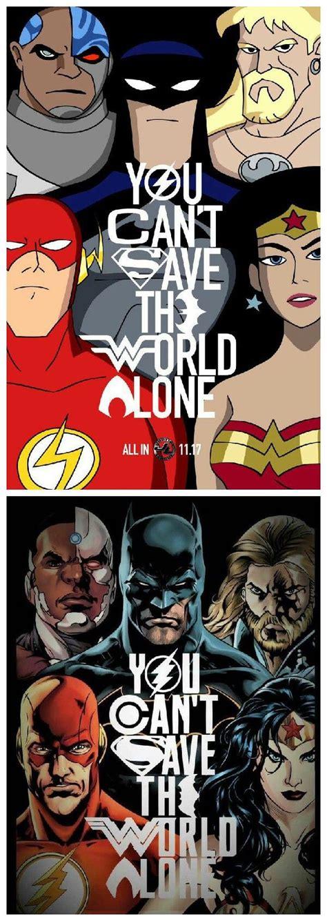 Kaos Superheroes Justice League You Can T Save The World Alone you can t save the world alone justice league me